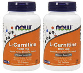 2-Pack Of L-Carnitine Tartrate 1000 mg 50 Tabs, Now Foods,Boosts Cellular Energy