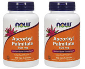 2-Pack Of Ascorbyl Palmitate 500 mg 100 Veggie Caps, Now Foods, Antioxidant