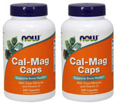 2-Pack Of Cal-Mag Caps 240 Caps, Now Foods, Calcium Magnesium