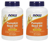 2-Pack Of Pumpkin Seed Oil 1000 mg 100 sGels, Now Foods