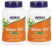 2-Pack Of Water Out Fluid Balance 100 Veggie Caps, Now Foods