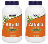 2-Pack Of Alfalfa 10 Grain 500 Tabs, Now Foods