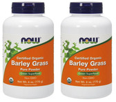2-Pack Of Organic Barley Grass 6 oz, Now Foods