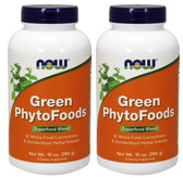2-Pack Of Green Phytofoods Powder 10 oz, Now Foods