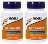 2-Pack Of Serrazimes 90 Vcaps, Now Foods