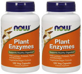 2-Pack Of Plant Enzymes 120 Vcaps, Now Foods, Supports  Digestion, 634654798589