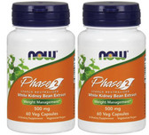 2-Pack Of All-Natural Phase 2 Starch Neutralizer 500 mg 60 VCaps, Now Foods