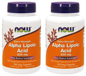 2-Pack Of Alpha Lipoic Acid 600 mg 120 Veggie Caps, Now Foods