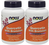 2-Pack Of Quercetin with Bromelain 120 Veggie Caps, Now Foods, Immune Support