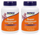 2-Pack Of Super Colostrum 500 mg 90 Veggie Caps, Now Foods, Immune