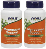 2-Pack Of Menopause Support 90 Veggie Caps, Now Foods