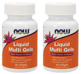 2-Pack Of Liquid Multi Softgels 60 Sgels, Now Foods
