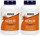 2-Pack Of Adam Male Multi 120 Tabs, Now Foods, Men's Health
