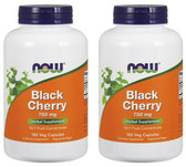 2-Pack Of Black Cherry Extract 750 mg 180 Vcaps, Now Foods, Inflammation Gout