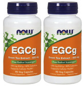 2-Pack Of EGCg Green Tea Extract 90 Vcaps, Now Foods, Antioxidant