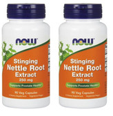 2-Pack Of Nettle Root Extract Stinging 250 mg 90 Vcaps, Now Foods Prostate