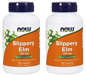2-Pack Of Slippery Elm 400 mg 100 Caps, Now Foods