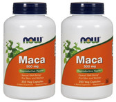 2-Pack Of Maca 500 mg 250 Veggie Caps, Now Foods, Reproductive Health Stamina