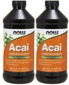 2-Pack Of Acai Liquid Concentrate 16 oz (473 ml), Now Foods