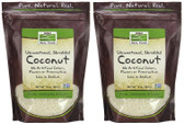 2-Pack Of Real Food Coconut 10 oz (284 g), Now Foods