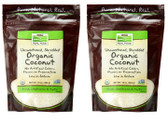 2-Pack Of Organic Coconut Shredded Unsweetened 10 oz, Now Foods