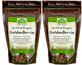 2-Pack Of Real Food Certified Organic Golden Berries 8 oz, Now Foods, Superfruit