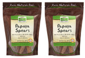 2-Pack Of Papaya Spears 12 oz (340 g), Now Foods