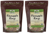 2-Pack Of Real Food Pineapple Rings 12 oz (340 g), Now Foods