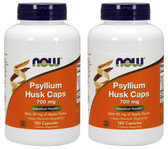 2-Pack Of Psyllium Husk Caps 700 mg 180 Caps, Now Foods