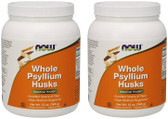 2-Pack Of Psyllium Husk Whole 12 oz, Now Foods