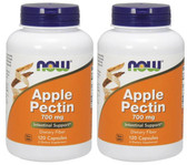 2-Pack Of Apple Pectin 700 mg 120 Caps, Now Foods, Digestion