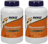 2-Pack Of Glucomannan 575 mg 180 Caps, Now Foods, Weight Loss