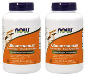 2-Pack Of Glucomannan Powder 8 oz., Now Foods, Diet Cholesterol