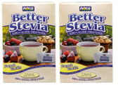 2-Pack Of BetterStevia Zero Calorie Sweetener French Vanila 75 Packets,Now Foods
