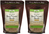 2-Pack Of Sunflower Seeds Roasted/Unsalted 16 oz, Now Foods