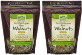 2-Pack Of Real Food Certified Organic Raw Walnuts Unsalted 12 oz, Now Foods