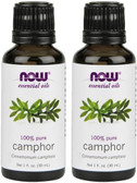2-Pack Of Essential Oils Camphor 1 oz (30 ml), Now Foods