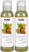 2-Pack Of Solutions Sweet Almond Oil 4 oz (118 ml), Now Foods