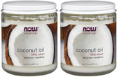 2-Pack Of Coconut Oil 100% Natural 7oz (207 ml), Now Foods, Softest Skin & Hair