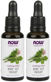2-Pack Of Solutions Ear Oil Relief 1oz (30 ml), Now Foods, Soothing Blend