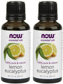 2-Pack Of Lemon Eucalyptus Oil 1 oz, Now Foods, Rejuvenating Aroma