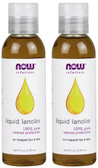 2-Pack Of Liquid Lanolin 4oz (118 ml), Now Foods, Soft Hands and Luxurious Skin