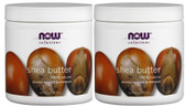 2-Pack Of Shea Butter 7 oz (207 ml), Now Foods, for Dry or Cracked Skin