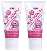 2-Pack Of Xyli-White Kids Toothpaste Gel Bubblegum Splash 3 oz (85 g), Now Foods