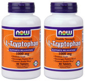 2-Pack Of L-Tryptophan 1000 mg 60 Tabs, Now Foods, Stress Mood Relaxation
