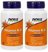 2-Pack Of Vitamin K-2 100 mcg 100 VC, Now Foods, K2 Cardiovascular Bones Health