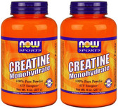 2-Pack Of Sports Creatine Monohydrate Powder 8 oz (227 g), Now Foods