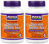 2-Pack Of Thermo Green Tea 90 Veggie Caps, Now Foods