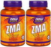 2-Pack Of ZMA Sports Recovery 90 Caps, Now Foods, Bodybuilding Sports Recovery