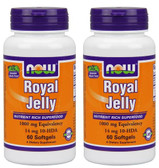 2-Pack Of Royal Jelly 1000 mg 60 sGels, Now Foods, Immune Support